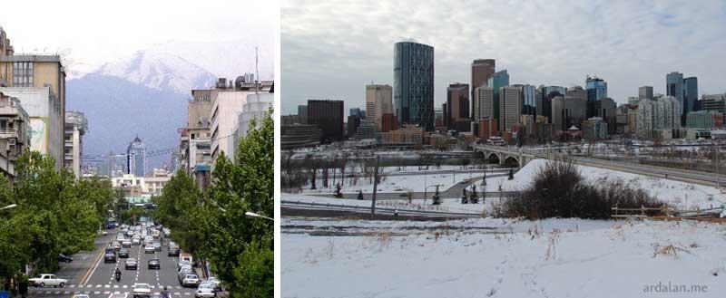 آب و هوای کانادا در مقایسه با ایران
